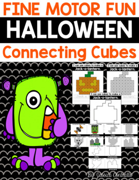 Fine Motor Fun: Halloween Connecting Cubes