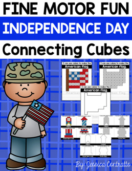 Fine Motor Fun: Independence Day Connecting Cubes