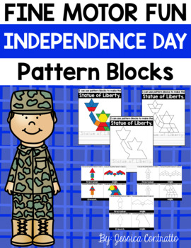 Fine Motor Fun: Independence Day Pattern Blocks