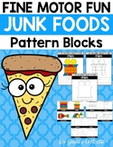 Fine Motor Fun: Junk Foods Pattern Blocks