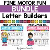 BUNDLE Fine Motor Fun Letter Builders: Building Brick LEGOS