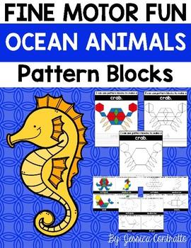 Fine Motor Fun: Ocean Animals Pattern Blocks