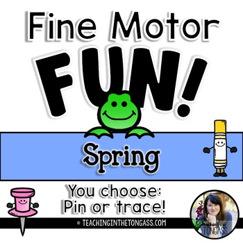 Fine Motor Activities Spring (Pokey Pin Activities)