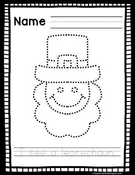 Fine Motor Activities St. Patrick's Day (Pokey Pin Clipart)