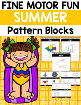 Fine Motor Fun: Summer Pattern Blocks