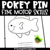 Pin Poking Printables | Pokey Pin Activities | Fine Motor Skill Activities