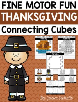 Fine Motor Fun: Thanksgiving Connecting Cubes