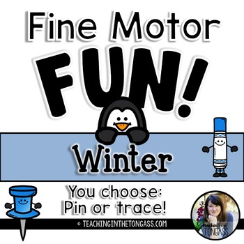 Fine Motor Activities Winter (Pokey Pin Activities)