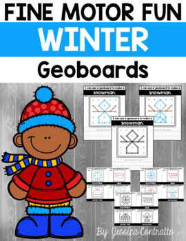 Fine Motor Fun: Winter Geoboards