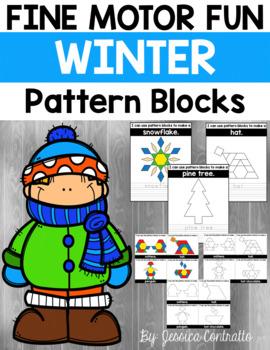 Fine Motor Fun: Winter Pattern Blocks
