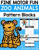 Fine Motor Fun: Zoo Animal Pattern Blocks