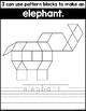Fine Motor Fun: Zoo Animal Pattern Blocks