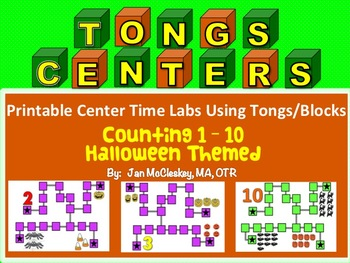 Fine Motor Halloween Themed COUNTING labs for Centers