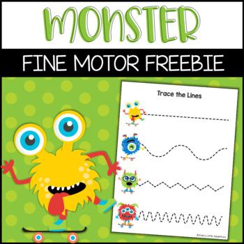 Fine Motor Monster Tracing Lines Preschool Pre Writing 2810398 on Open Number Line Printable