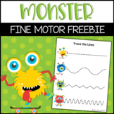 Fine Motor Monster Tracing Lines | Preschool Pre-Writing