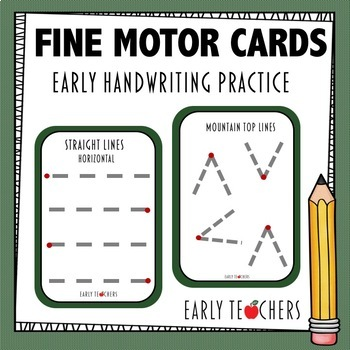 Fine Motor Handwriting Tracing Cards