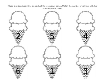 Fine Motor Ice Cream Playdough Mat