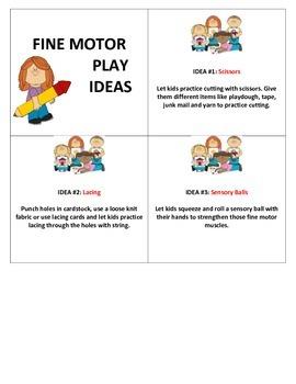 Fine Motor Idea Cards