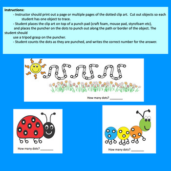 Fine Motor Labs: Spring Crazy Punch Dots for Center Time