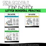 Fine Motor Letter Reversals (b/d/p/q) Pom Pom Pictures Seasonal Bundle