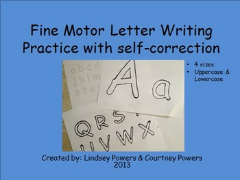 Fine Motor Letter Writing Practice With Self-Correction