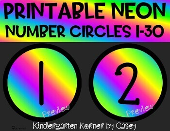 Fine Motor Math Center: Large Number Circles 1 to 1 Correspondence Chain Links
