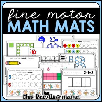 Fine Motor Math Mats