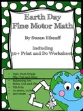 Print and Do Worksheets - Earth Day - Fine Motor Math