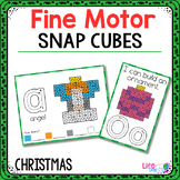 Fine Motor Mats for Christmas | Snap Cubes