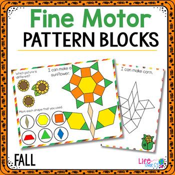 Fine Motor Mats for Fall | Pattern Blocks