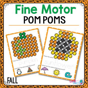 Fine Motor Mats for Fall | Pom Poms