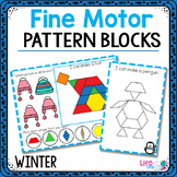 Fine Motor Mats for Winter | Pattern Blocks