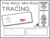 Fine Motor Mini-book of Tracing Easel Activity (Autism, Pr