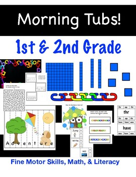 Fine Motor Morning Tubs! 1st and 2nd Grade