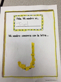 Fine Motor My Name is First Letter of Your Name Literacy Activity