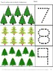 November December Math Literacy Cut Paste Unit Fine Motor Bundle