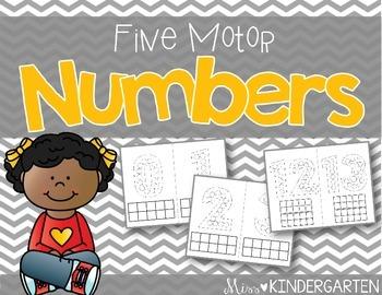 Fine Motor Number Mats {0-20}