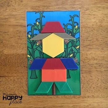 Fine Motor Pattern Blocks Puzzles