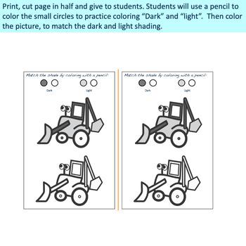 Fine Motor: Pencil Shading Power - Fall and Farm Animal Themed
