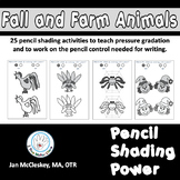 Fine Motor: Pencil Shading Power - Fall and Farm Animal Themed