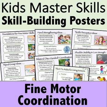 Fine Motor Posters with Skill-Building Ideas and OT Activities
