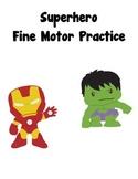 Fine Motor Practice - Superhero themed
