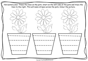 Fine Motor Pre-writing Worksheets
