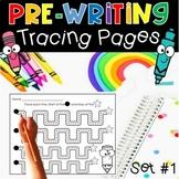 Fine Motor PreWriting Tracing Worksheet Preschool Kinderga