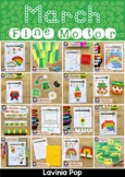 Fine Motor Printable Activities for March