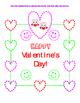 Fine Motor Printable Sheet ~ Heart Tracing Valentine Celebration