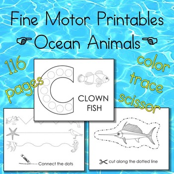 Ocean Animal Fine Motor Printables