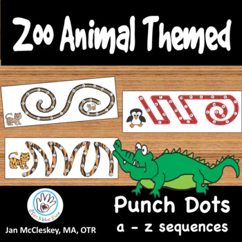 Fine Motor Punch Dots Zoo Animal Themed a - z sequences