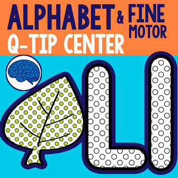Fine Motor Q-Tip Painting (Images with Guides, Alphabet) O