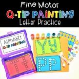 Fine Motor QTip Painting Letter Practice Alphabet Phonics